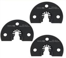 3 pcs half circle HCS quick release oscillating saw blade fit for most brands of multifunction electric power tool as Fein,TCH