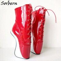 Sorbern Для женщин высокие ботильоны 7 обувь на 2,5 сантиметровом каблуке DIY Цвет балетные каблуки нешипованной женская
