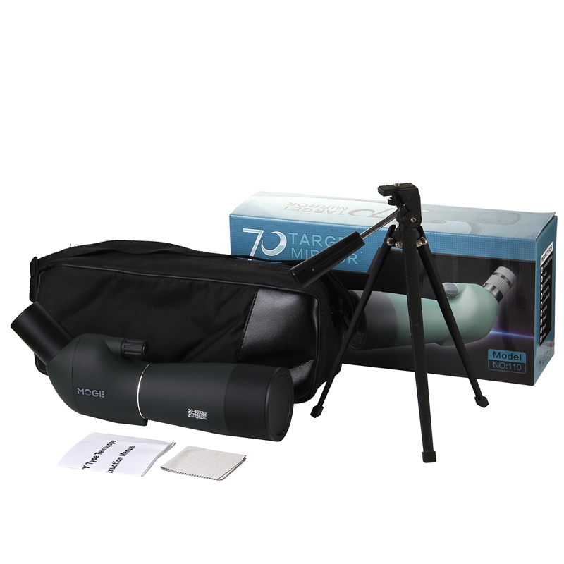 Waterproof Spotting Scope 20-60x60 for Birdwatching Long Range Target Shooting Spotting  ...