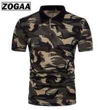 ZOGAA Mens Polo Shirt Brands 2019 Camouflage Male Long Sleeve Casual Slim Military Polos Men XXL Collar