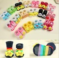 1Pair 100% Cotton Newborn Baby Socks Anti-Slip Animal Toddler Baby Sock Baby Girl Boy Home Sock Kid Clothing And Accessory