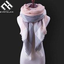 811035af01ff5 Mode D'hiver Écharpe Pour Les Femmes Écharpe En Cachemire Chaud Plaid  Pashmina Écharpe De Luxe Marque Couverture Wraps Femme Fou.