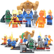 SY167 Building Blocks Super Heroes Doom Stones Silver Surfer Fantastic Four 4 Invisible Women Avengers Minifigure