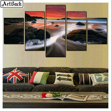 5 spell diamond painting sunset full square drill mosaic diy embroidery