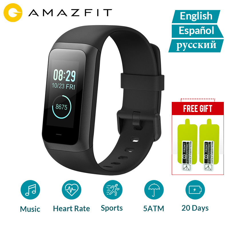 Amazfit Smart Watch Sport  Band2 Cor 2 Wristband Heart Rate Monitor Waterproof IPS Screen 20 days Standby Bluetooth4.2 English