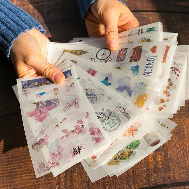 6 unids/pack pegatinas bonitas de dibujos animados pegatinas de papelería para decoración DIY álbum diario planificador bala diario pegatinas