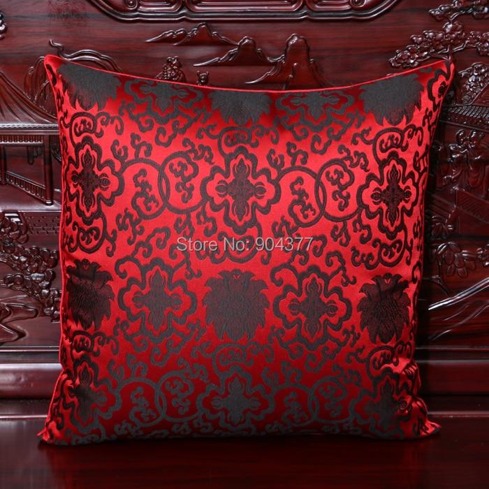 Чехол для подушки для автомобильного стула с цветами 40x40 см 45x45 см 50*50 60*60 китайские красочные диванные Декоративные Чехлы для подушек, шелковая атласная наволочка