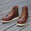 Carved male boots tooling motorcycle boots vintage leather cowhide male boots outdoor boots
