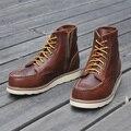 Talladas botas masculinas herramientas botas de moto botas vaca cuero vintage botas exterior