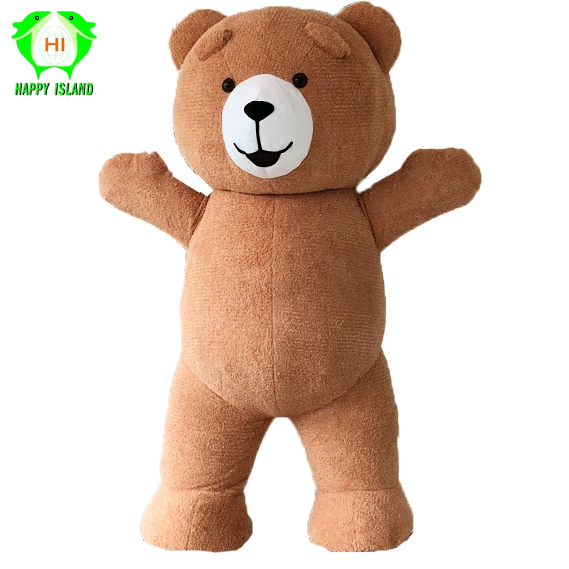 Teddy Bear Inflatable Costumes for Advertising Customize 3M Tall Suitable for 1 7m To 1 9m