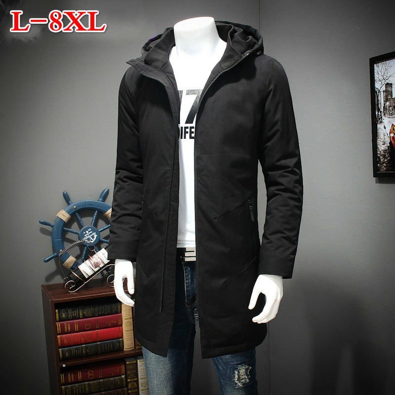 8XL 7XL 6XL 5XL  in the long winter cotton padded clothes men XL warm coat fat fat thick jacket hooded cotton down free shipping the fat free junk food cookbook