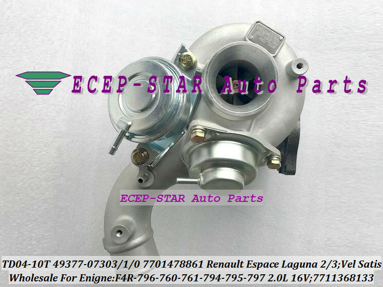 TD04-10T-8.5 49377-07303 49377-07301 49377-07300 7701478861 7711368133 Turbo For Renault Espace Laguna 2 3 Vel Satis 2001- F4R 796 2.0L 16V (2)