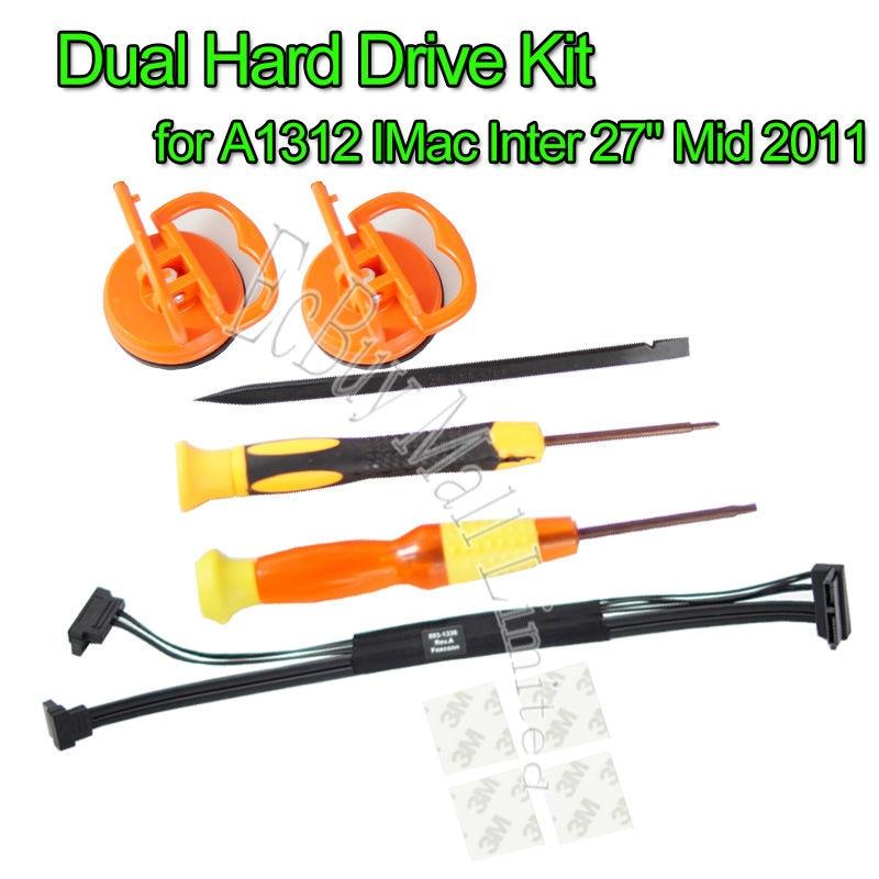 """Абсолютно новый для A1312 IMac Inter 27 """"Mid 2011 двойной жесткий диск кабель/комплект 593 1330 on AliExpress"""