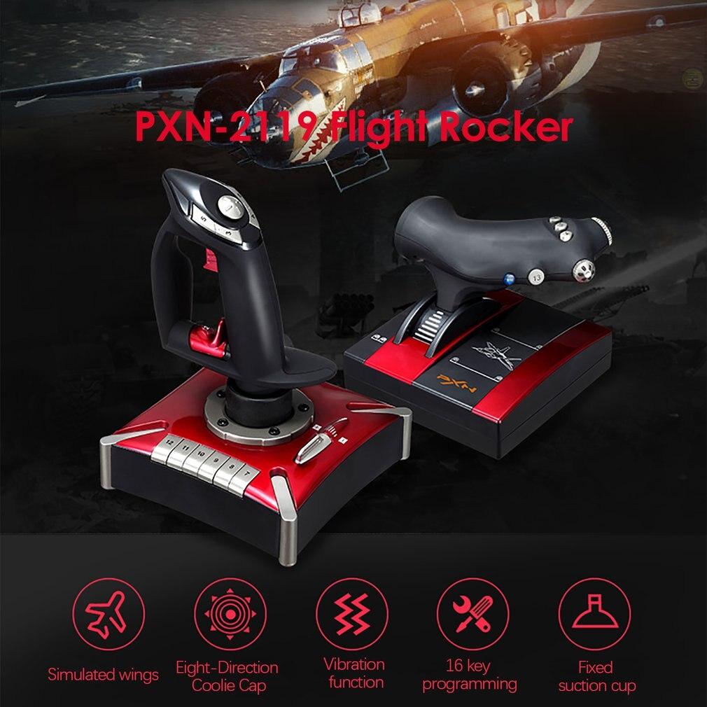 PXN-2119II palanca para vuelo Joystick USB Simulador de GamePad controlador de juegos fr PC - 2