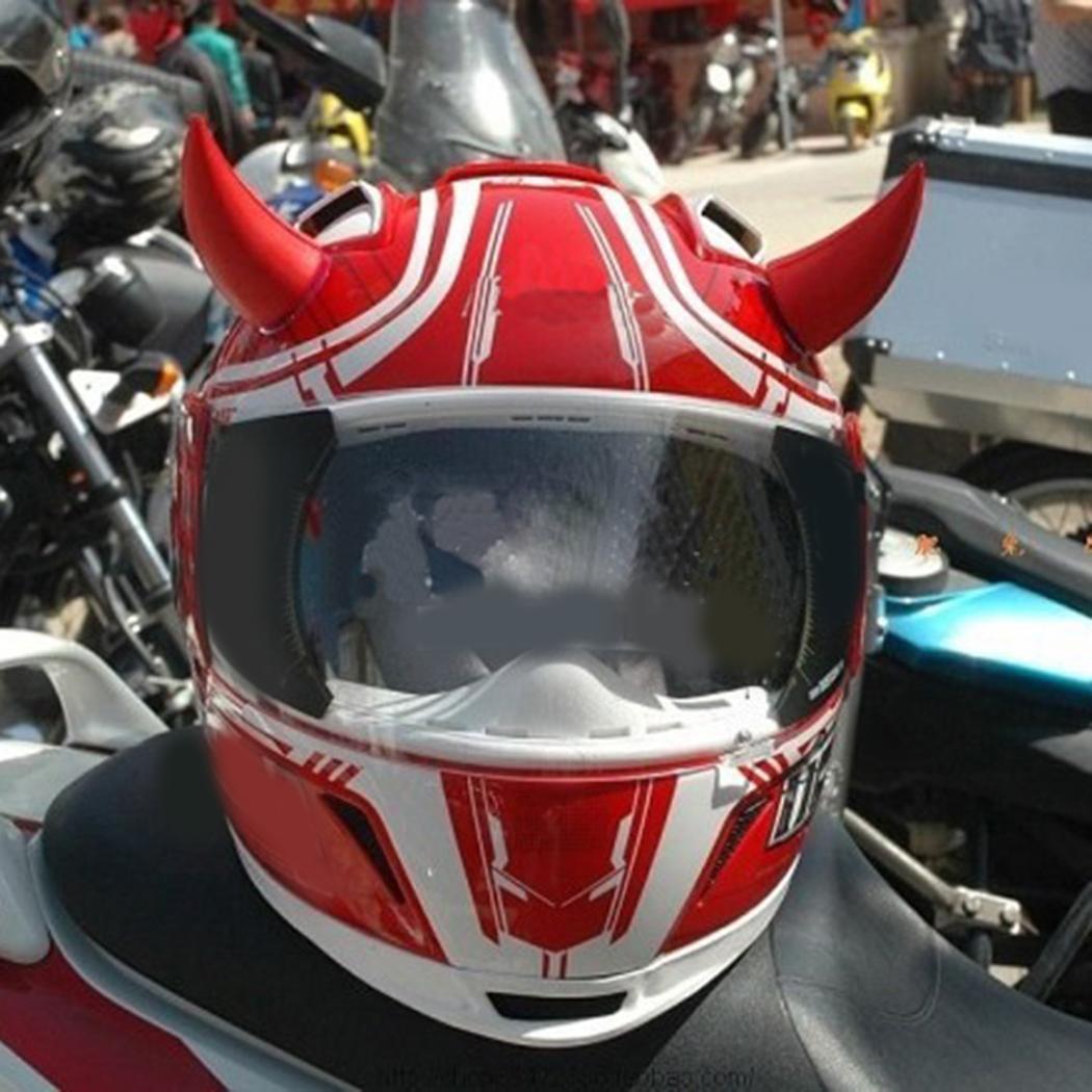 1pcs Motorcycle Helmet Headwear Accessories Suction Cups Multi-color Devil's Horn Horn Decoration Headwear Sucker