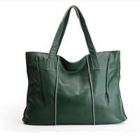 New Come Real Genuine Leather Women Handbags Shoulder Bag Ladies Casual Tote Large Capacity Woman Shopping Bag Bolsas