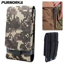 a513b7275064 Universal Outdoor Tactical Holster Molle Hip Waist Belt Bag Phone Pouch Case  For Huawei Y9 Y7 Y6 Y5 Y3 2018 Y 5 Y 7 Pro Prime