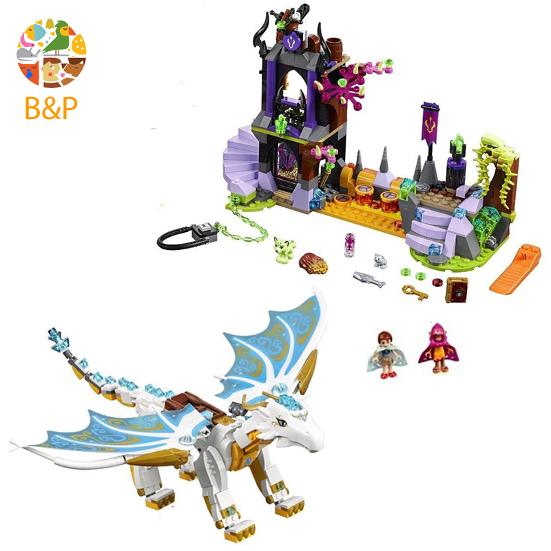 Bela Elves 10550 White Dragon The Elf Series Of Long After The Rescue Action Blocks With 41179 Girls Assembled Block Toys Gift lepin 30017 505pcs elves series the aira