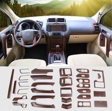 Luxury ABS Wood Chrome For Toyota Land Cruiser PRADO FJ150 2010-2017 Car Interior Cover Trim Frame Decoration Car Styling цены онлайн