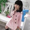 Meninas Crianças Vestido Top de Manga Comprida Vestido 2-7 Y Bebés Partido Roupas 1-peça Bonita do