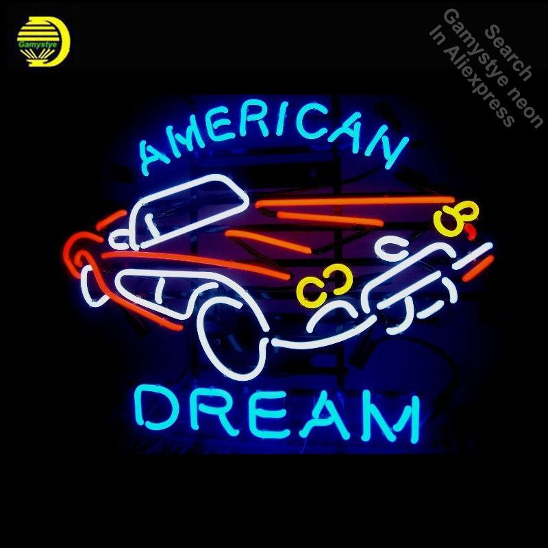 18f2a4567a CORVETT AMERICAN DREAM neon Signs Glass Tube neon lights Recreation Windows  Iconic Sign Neon Light LAmps