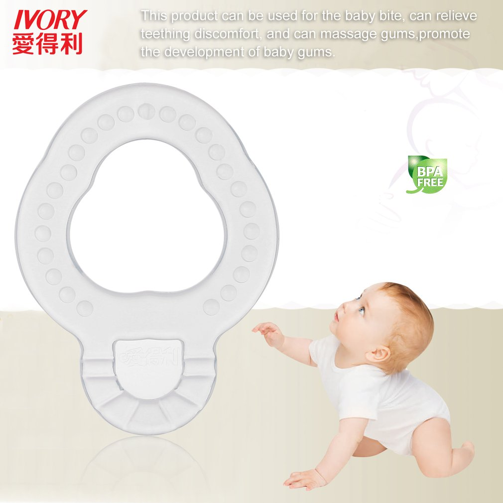 Babypflege Food Grade Silikon Baby Beißring Bunte Beruhigende Zahnen Ring Ungiftig Kauen Spielzeug Dental Care Infant Liefert 0-12 Monate Baby Beißringe