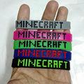 10 pçs/lote Nova Moda trepadeira Minecraft pulseira de Silicone do esporte pulseira acessório do jogo de brinquedo de presente de Alta Qualidade. um não é barato!