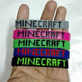 10pcs/lot New Fashion Minecraft sport bracelet Silicone creeper wristband game accessory toy gift High Quality. not cheap one!