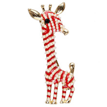 Cute Pearl Giraffe Brooches for Women Animal Brooch Pin Fashion Jewelry Gold Color Gift For Kids Exquisite Broches O2635