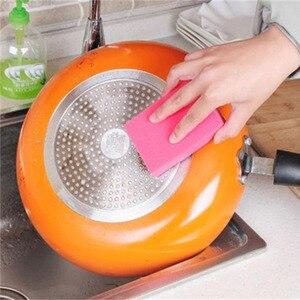 Image 1 - 1 pcs 양면 듀얼 사용 나노 ceram 컬러 매직 스폰지 청소 녹 오염 제거 스폰지 무료 배송
