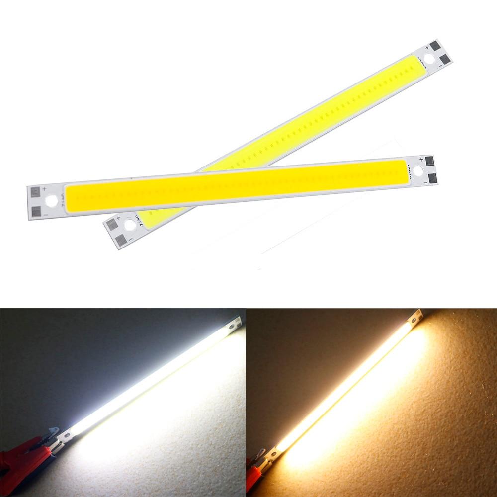 DC 12V LED COB 3W 12*1cm mini COB LED Chip 10W Light source Warm White for Tubes indoor outdoor DIY Lamps Strip Light DA