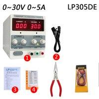 220 В ноутбук мобильный телефон ремонт питания постоянного тока Выход Регулируемый Линейный источник питания 30 В 5A