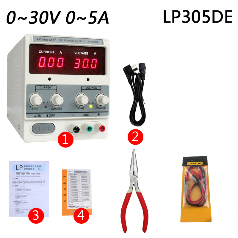 220V Laptop Mobile phone repair DC power supply Output adjustable linear power supply 30V 5A four digit display rps3003c 2 adjustable dc power supply 30v 3a linear power supply repair