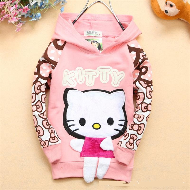 NEW cartoon clothes baby girls sweater T shirt 100% cotton sweater girls clothing hoodie free shipping