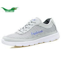 LANTI KAST Men Running Shoes Summer Air Mesh Lace Up Athletic Sport Shoes Men Footwear Breathable