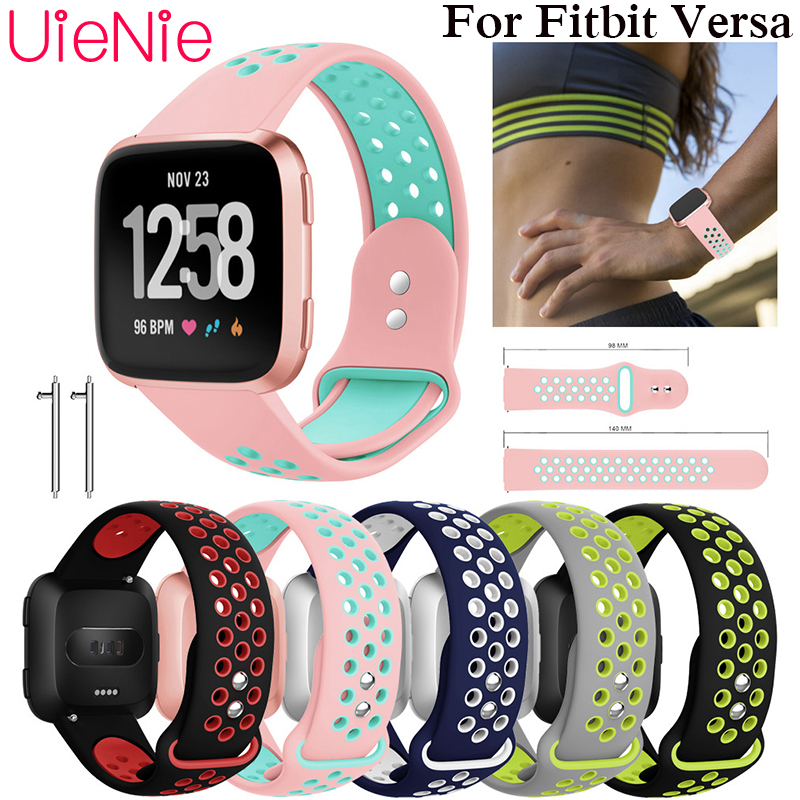Frontier classic solf silicone Replacement Sport Wristband accessories strap for Fitbit Versa smart watch bracelet