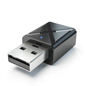 Image 5 - 100 قطعة/الوحدة USB اللاسلكية استقبال الإرسال بلوتوث V5.0 الصوت الموسيقى ستيريو محول دونغل للتلفزيون PC سمّاعات بلوتوث