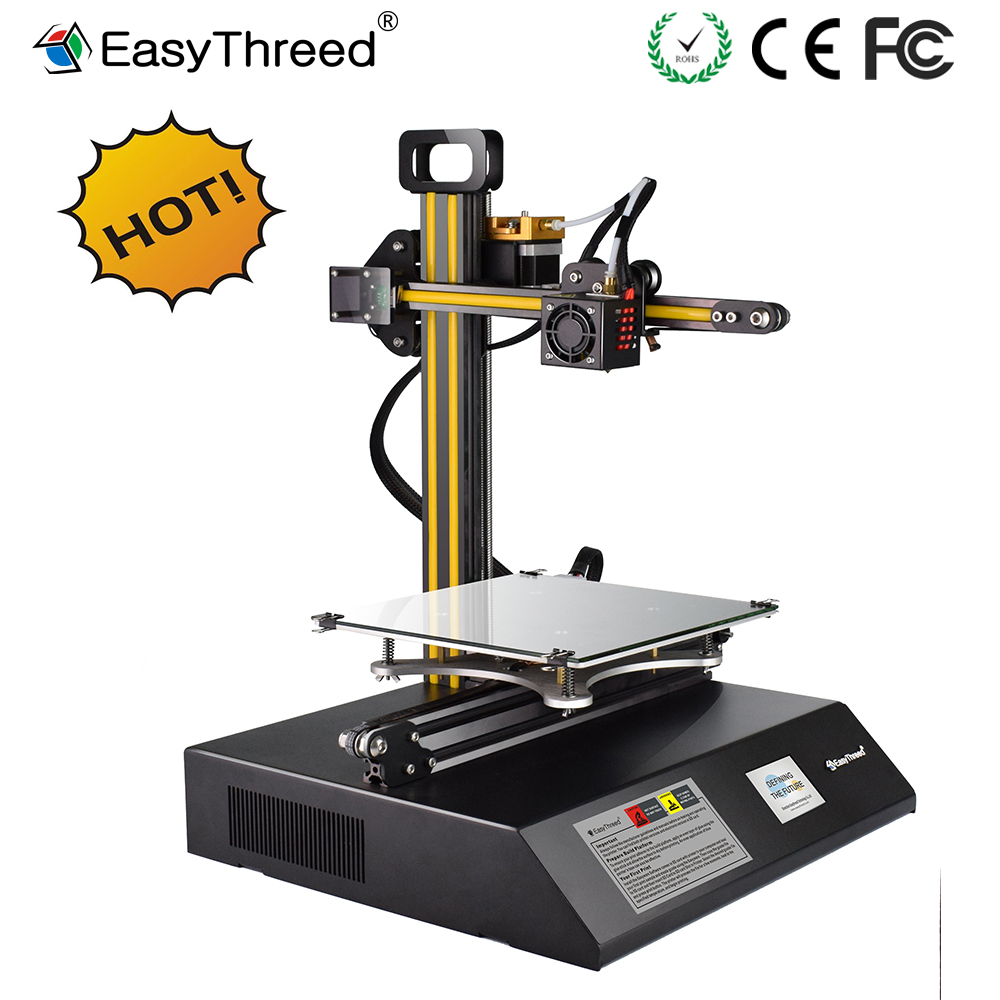 Foldable 3D Printer MARS EasyThreed Metal Frame with LCD Large Platform High Precision Extruder Hot Bed Parts Kit No Assembly