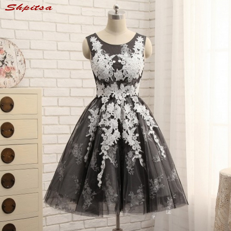 Sexy Short Lace   Cocktail     Dresses   Women Little Black   Dresses   Graduation Prom Party Coctail   Dress   vestido de festa curto coctel