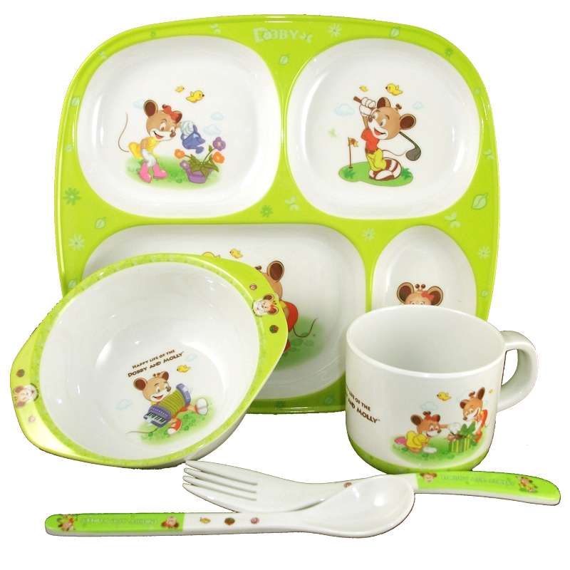 Free Shipping Children Tableware Sets Baby Tableware Melamine Ceramic  Infant Supplies Bowl Dish Cup Spoon Fork In Dishes From Mother U0026 Kids On ...