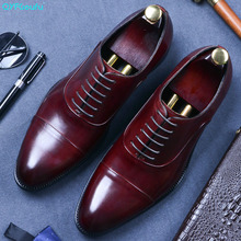 QYFCIOUFU Lace-up Genuine Cow Leather Men Formal Shoes Italian High Quality Designer Luxury Classic Elegant Oxford