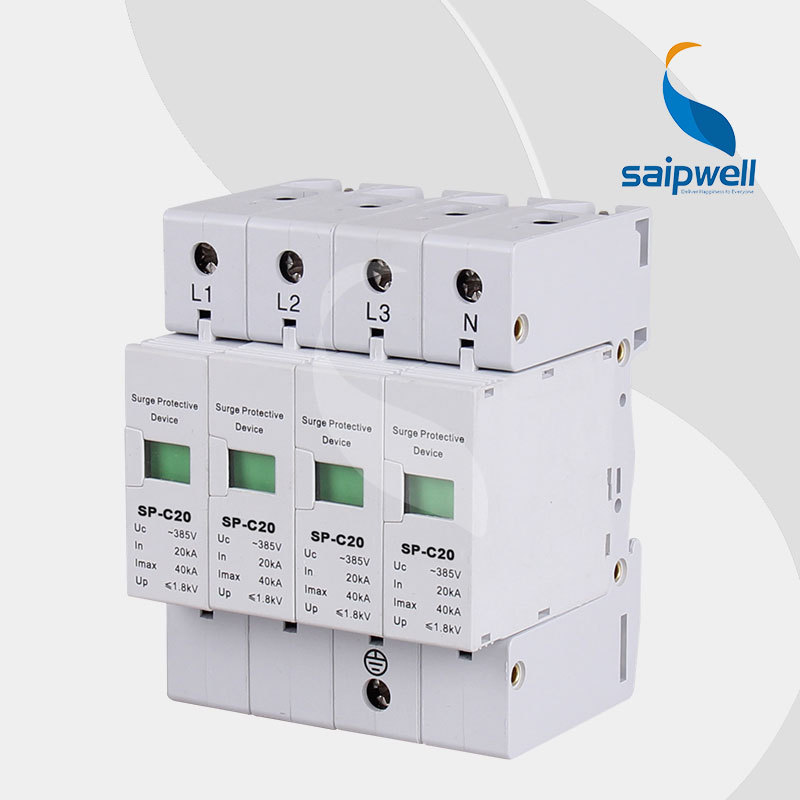 AC 385V 40KA Voltage Protector, Surge Protector,Surge Protective Device 4P,CE UL ApprovalAC 385V 40KA Voltage Protector, Surge Protector,Surge Protective Device 4P,CE UL Approval