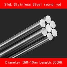 316L Stainless steel round bar Diameter 5mm 8mm 10mm Length 300mm metal rod
