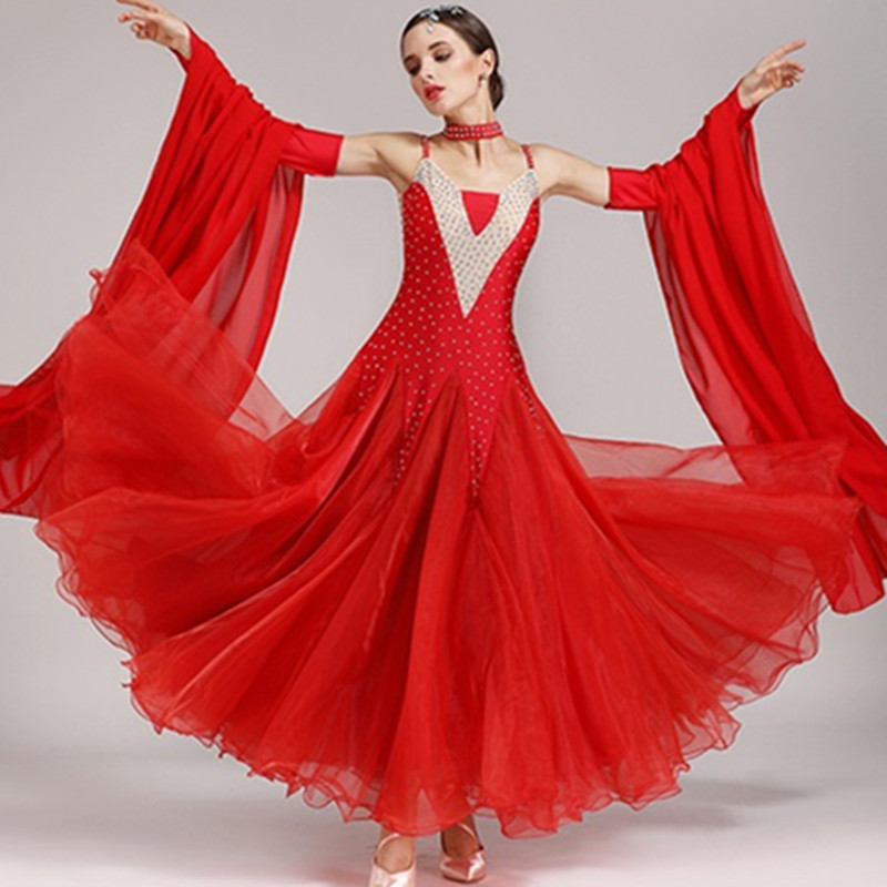 Ballroom Dress Waltz Modern Dance Dress Ballroom Dance Competition Dresses Standard Ballroom Dancing Clothes Tango Dress Fringe
