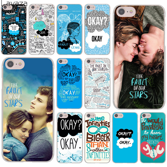 on sale 994f7 7a6e8 US $2.55 |Lavaza The Fault In Our Stars OKAY Hard Cover Case for iPhone X  XS Max XR 6 6S 7 8 Plus 5 5S SE 5C 4S 10 Phone Cases 7Plus 8Plus-in ...