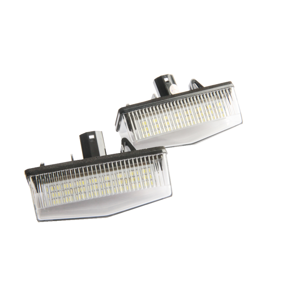 2x 12V Canbus No Error Free SMD LED Number License Plate Light For Toyota Prius ZVW30 7000K Xenon white OEM Replacement 2pcs error free led smd license plate light for toyota land cruiser lexus gx lx470 new dropping shipping