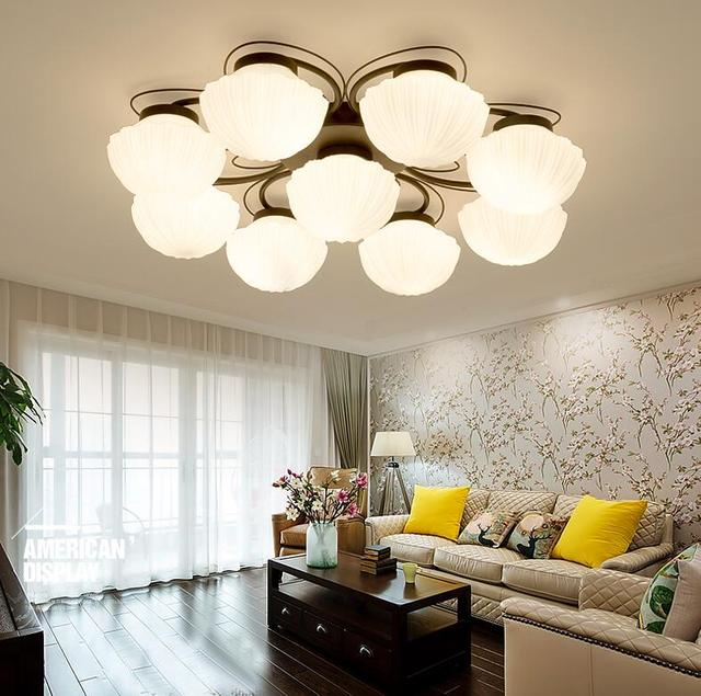 Americano semplici plafoniere di vetro creativo soggiorno camera da ...