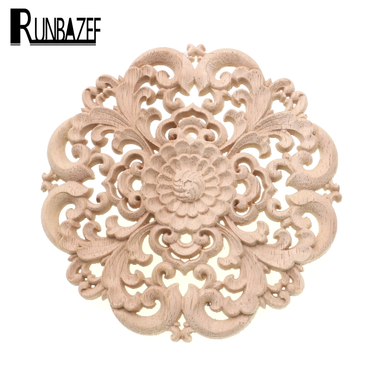 Runbazef woodcarving furniture decoration solid wood door for Applique furniture decoration