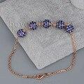 18kt ouro Natural Sapphire pulseira, Shamballa pulseiras e pulseiras de ouro pulseira de safira jóias NA0020