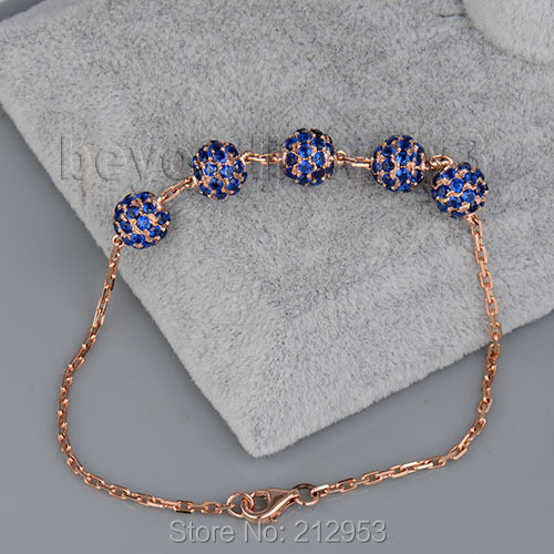 Solid 18kt Rose Gold Natural Sapphire Bracelet, Shamballa Bracelets & Bangles Gold Sapphire Bracelet Fine Jewelry NA0020